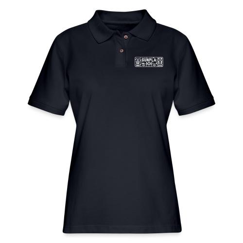 Gunpla 101 Men's T-shirt — Zeta Blue - Women's Pique Polo Shirt