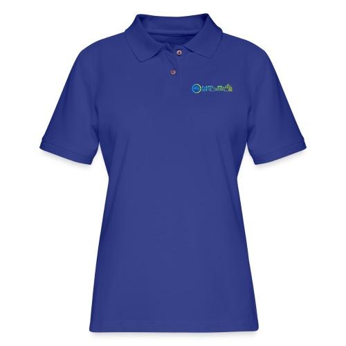 Melbshuffle Gradient Logo - Women's Pique Polo Shirt
