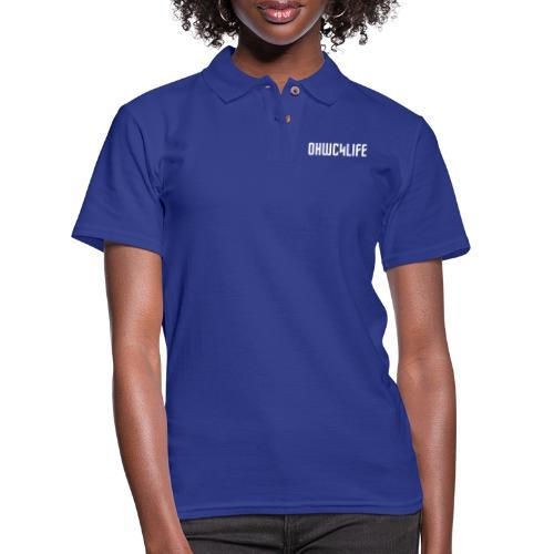 OHWC4LIFE text WH-NO-BG - Women's Pique Polo Shirt