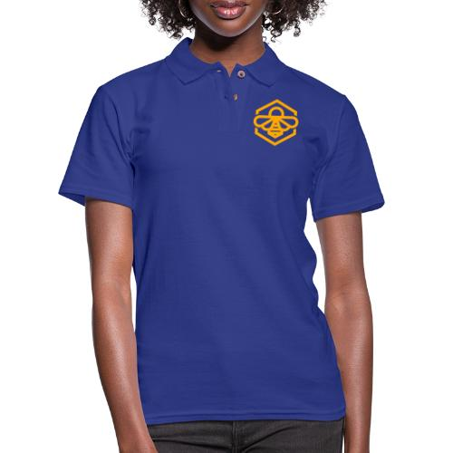 bee symbol orange - Women's Pique Polo Shirt