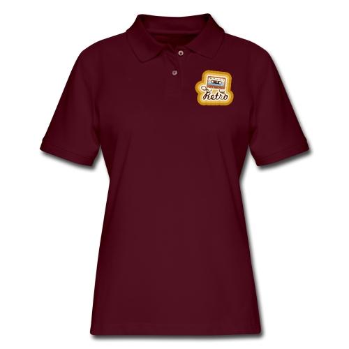 Retro-Cassette - Women's Pique Polo Shirt