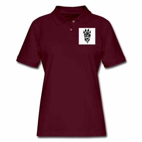 Black Leo Zodiac Sign - Women's Pique Polo Shirt