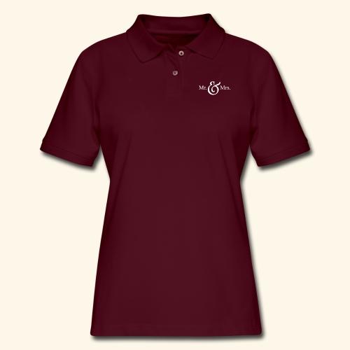MR.& MRS . TEE SHIRT - Women's Pique Polo Shirt
