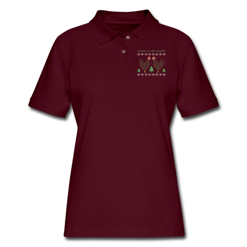cluck cluck cluck - Women's Pique Polo Shirt