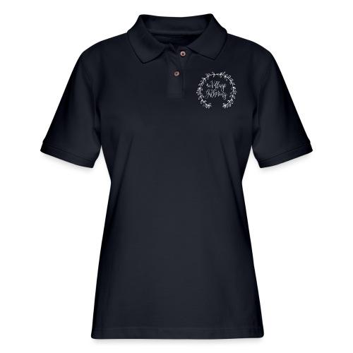 The Village Gathering // White Logo - Women's Pique Polo Shirt