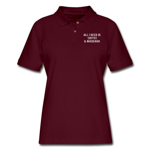 Coffee and Mascara - Women's Pique Polo Shirt
