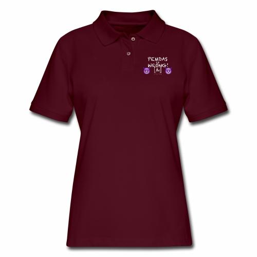 PEMDAS is Wrong! [fbt] - Women's Pique Polo Shirt