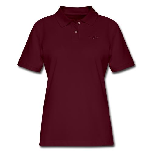 inhale white, thin font - Women's Pique Polo Shirt
