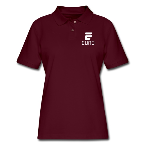 EUNO LOGO POTRAIT WHITE - Women's Pique Polo Shirt