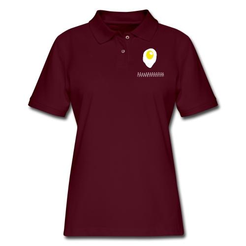 Existential Fried Egg - Women's Pique Polo Shirt