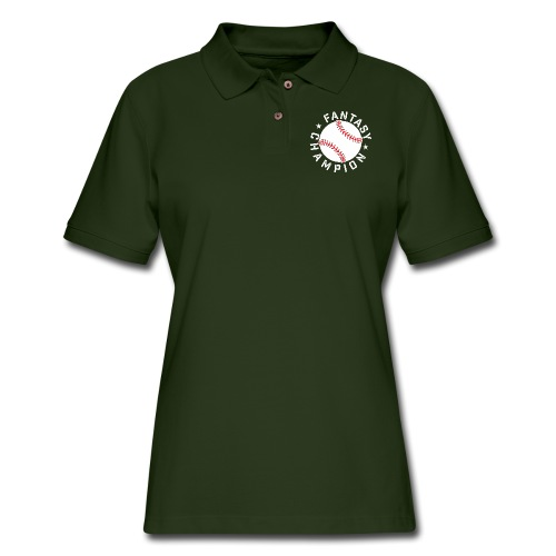 Fantasy Baseball Champion - Women's Pique Polo Shirt