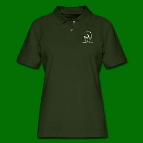 SPC Logo White - Women's Pique Polo Shirt