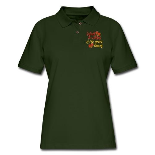 Fall for Jesus - Women's Pique Polo Shirt