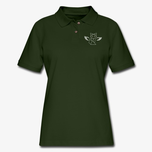 Winged Wolf - Women's Pique Polo Shirt