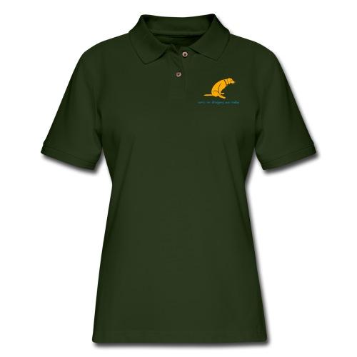 Dragging Ass - Women's Pique Polo Shirt