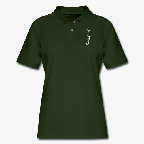 get glitchy - Women's Pique Polo Shirt