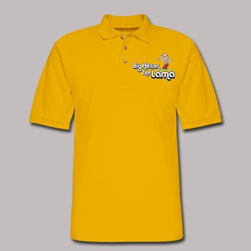 Big Hitter The Lama - Men's Pique Polo Shirt