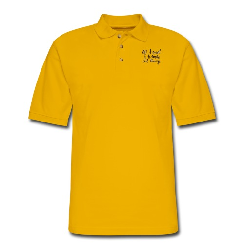 Cool Things Navy - Men's Pique Polo Shirt