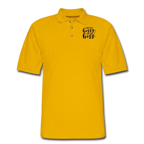 i am the boss - Men's Pique Polo Shirt