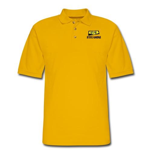 Live Streaming - Men's Pique Polo Shirt