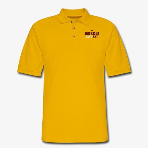 Muscle Eats Fat (Minutemen Edition) - Men's Pique Polo Shirt