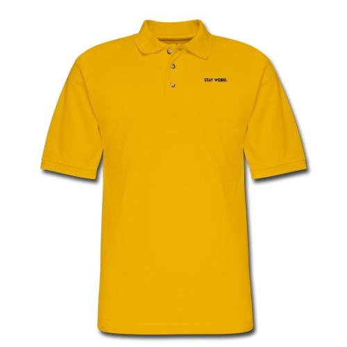 Triple G Stay Weird - Black Text - Men's Pique Polo Shirt