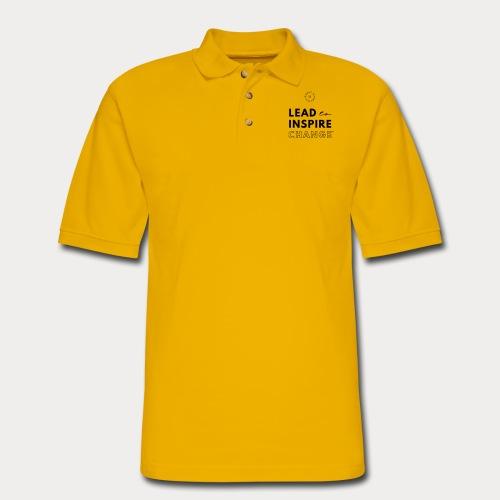 Lead. Inspire. Change. - Men's Pique Polo Shirt