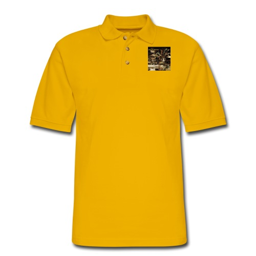 Mantis and the Prayer- Butterflies and Demons - Men's Pique Polo Shirt