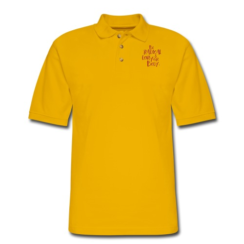 Be Radical & Love Your Body. - Men's Pique Polo Shirt