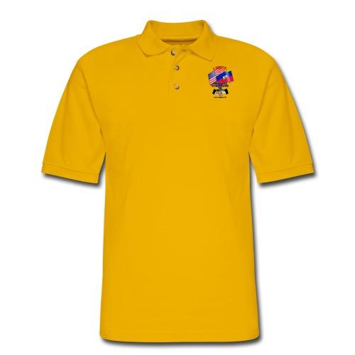 The Flag of Haiti E03 - Men's Pique Polo Shirt
