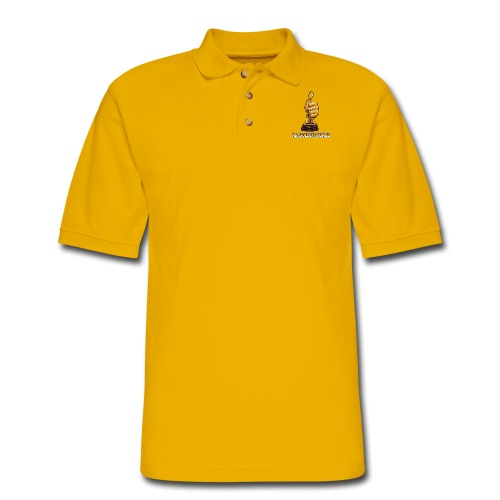 Mr. Golden Thumbz 1K Subscriber Achievement - Men's Pique Polo Shirt
