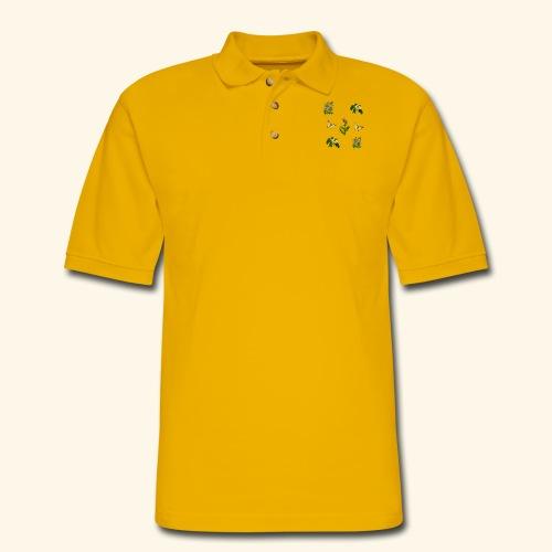vintage bloom Botanical Design - Men's Pique Polo Shirt