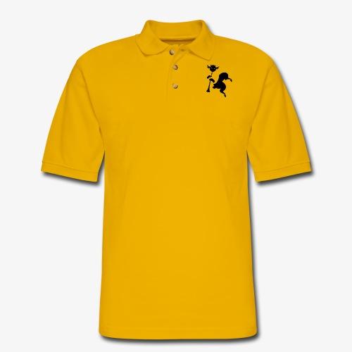 imagika black - Men's Pique Polo Shirt