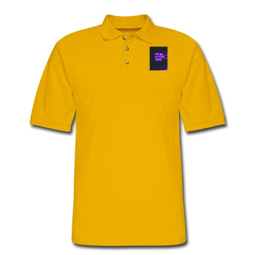 It's All In Your Head - Men's Pique Polo Shirt