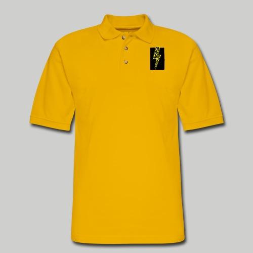 Ol' School Johnny Colour Lightning - Men's Pique Polo Shirt