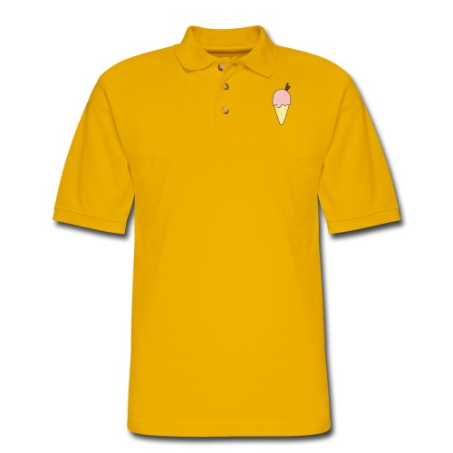 ice cream - Men's Pique Polo Shirt