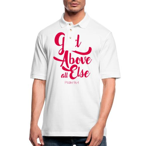 Psalm 96:4 God above all else - Men's Pique Polo Shirt
