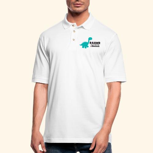 Dino RAAWR Means I Love You Tee - Men's Pique Polo Shirt