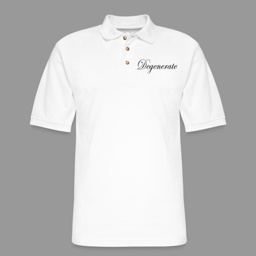 Degenerate - Men's Pique Polo Shirt