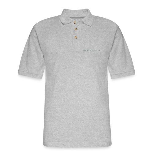 Shangri La silver - Men's Pique Polo Shirt