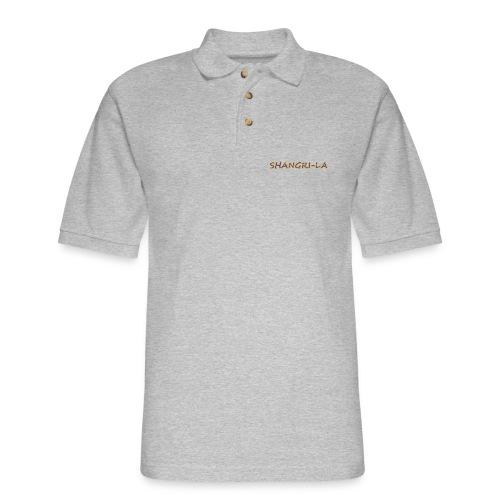 Shangri La gold blue - Men's Pique Polo Shirt