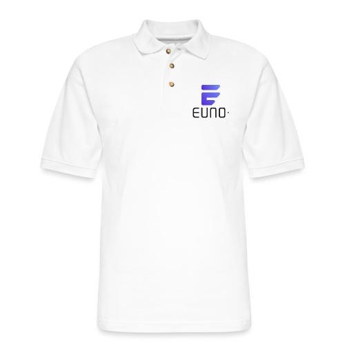 EUNO LOGO POTRAIT BLACK FONT - Men's Pique Polo Shirt