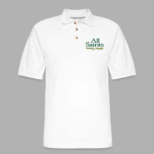 All Saints Logo Full Color - Men's Pique Polo Shirt