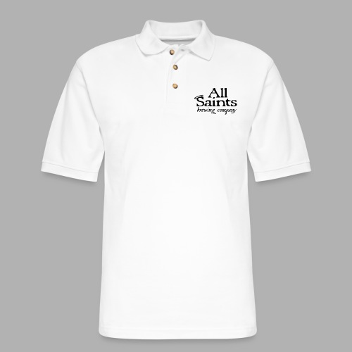 All Saints Logo Black - Men's Pique Polo Shirt