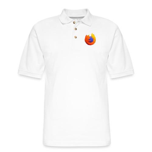 Firefox Reality Logo - Men's Pique Polo Shirt