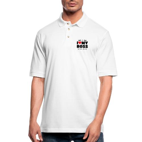 I love my Boss - Men's Pique Polo Shirt