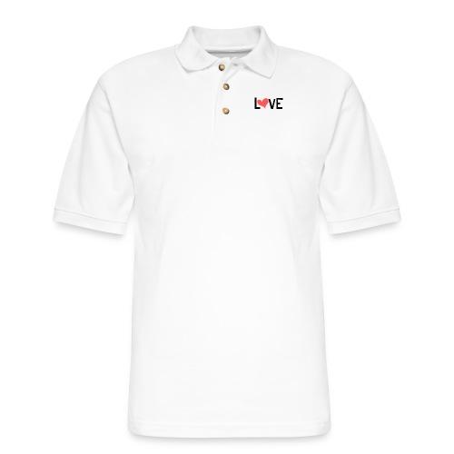 LOVE heart - Men's Pique Polo Shirt