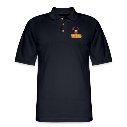 Red Christmas Horny Reindeer 7 - Men's Pique Polo Shirt
