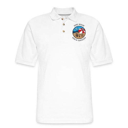 Kure Beach Day-Black Lettering-Front Only - Men's Pique Polo Shirt