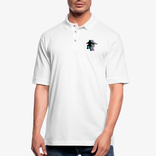 silhouette rainbow - Men's Pique Polo Shirt